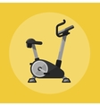 Exercise bike Gym sports equipment icon vector image vector image