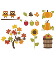 Fall Set vector image vector image