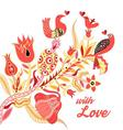 Festive beautiful poster for Valentines Day vector image vector image