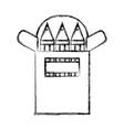 figure colored pencils object school education vector image vector image
