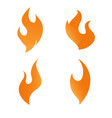fire flame logo icon gradient set vector image