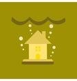 flat icon on stylish background flood house vector image