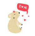 funny cute koala and lettering text i love me vector image vector image