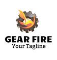 Gear Fire Design vector image