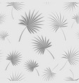 gray tropical palm leaves seamless floral pattern vector image