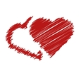 handwriting hearts vector image