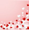 happy valentines day background flying red pink vector image vector image