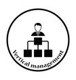 Head businessman with scheme icon vector image vector image