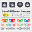 House icon sign Big set of colorful diverse vector image vector image
