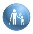kid with flower icon simple style vector image