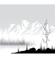 Landscape with mountains near lake vector image vector image