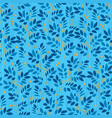 leaves endless pattern with leaf and berry on vector image vector image