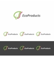 logo template for eco - products vector image vector image
