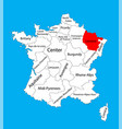 Map state lorraine location on france