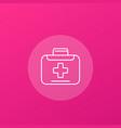 medical bag icon line vector image