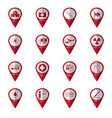 medical icons with location icon02 vector image