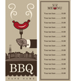 menu for barbecue vector image vector image