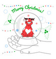 merry christmas - colorful flat design style vector image