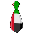 necktie in national colours of United Arab Emirate vector image