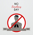 No smoking day poster vector image