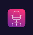 office chair icon linear vector image vector image