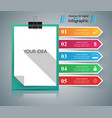 office infographic pin icon vector image vector image