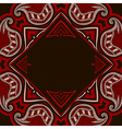 oriental pattern in red and black colors vector image