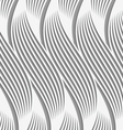 Perforated paper with wavy striped shapes vector image vector image