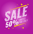 poster sale for a limited time only vector image vector image