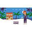 real estate agency website design woman realtor vector image