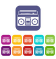 recorder icons set vector image vector image