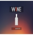 Red and white wine cellar bottle concept design vector image vector image
