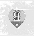 retro label with veterans day sale text vector image vector image