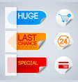 sale and retail labels set vector image vector image