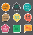 Set of commercial sale stickers elements badges vector image