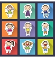 set of funny hand drawn kids on background vector image vector image