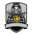 skull welder badge vector image