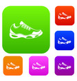 sneakers for tennis set collection vector image vector image
