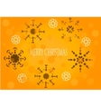 Snowflakes on orange background vector image vector image