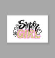 super girl colorful graffiti vector image vector image