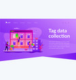 tag management landing page template vector image vector image