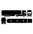 tanker truck black icons vector image