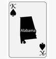 usa playing card king spades vector image vector image