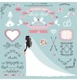 Wedding bridal shower decor setBride invitation vector image vector image