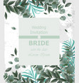 wedding invitation frame beautiful round vector image