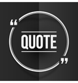 White round quote frame at black folded paper vector image vector image