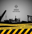 Under construction industrial template design vector image