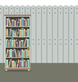 Bookcase With Wooden Background Vintage Style vector image