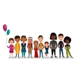 Group of smiling children different nationalities vector image