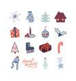 christmas cute icon vector image